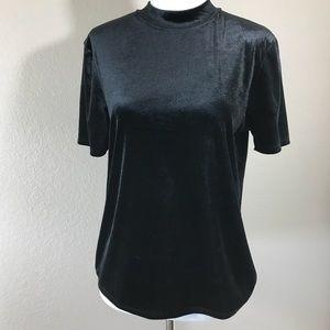 Zara Trafaulic Black Velvet Top